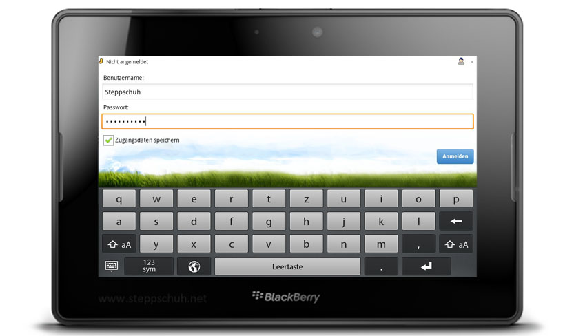 Jappy Mobile Messenger auf dem BlackBerry PlayBook