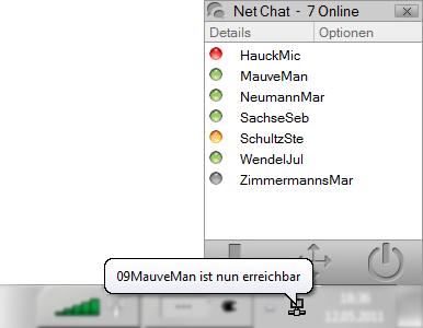 Midis Net Chat Anwendungsbeispiel