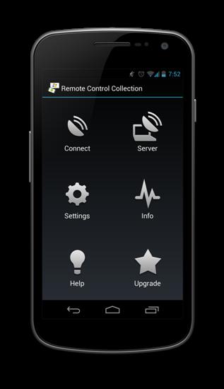Remote Control Collection - Start Bildschirm