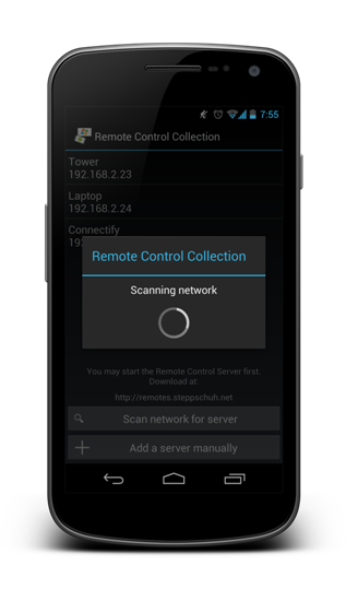 Remote Control Collection - Start Bildschirm